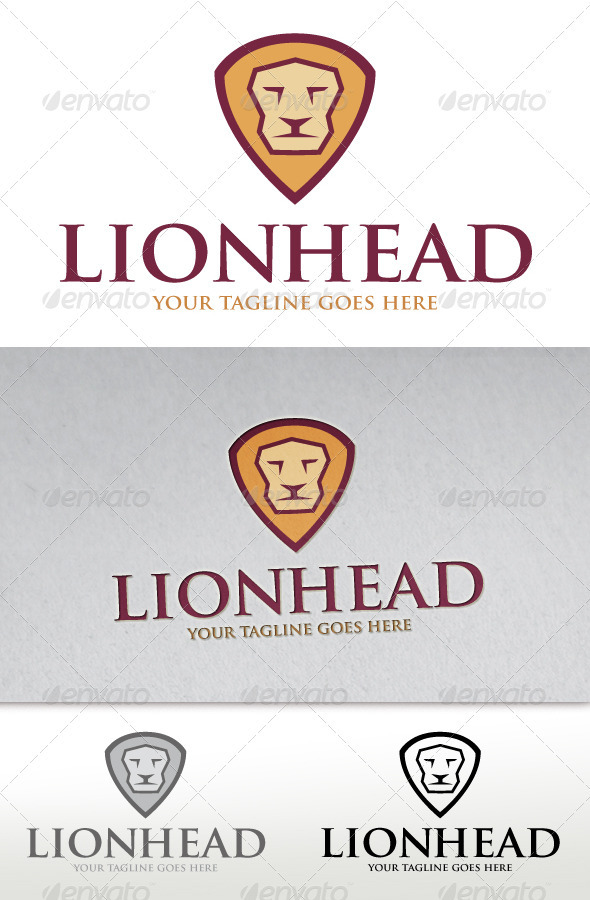 Lion Head Logo - Animals Logo Templates