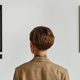 Young Woman Looking at Modern Art Back View - PhotoDune Item for Sale