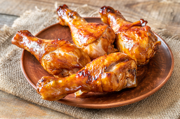 Grilled chicken drumsticks - Stock Photo - Images
