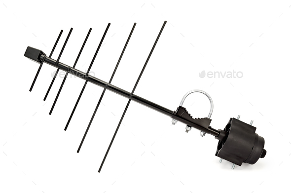 Antenna television - Stock Photo - Images