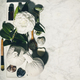 Flat lay composition with spring camelia flower and various beauty care products - PhotoDune Item for Sale