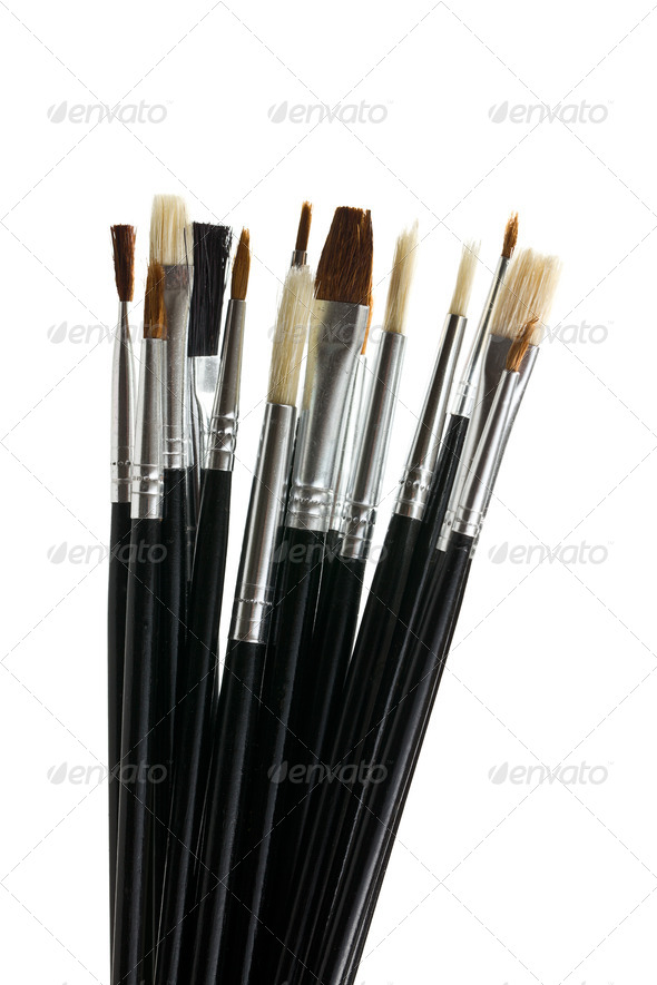 Set of paint brushes - Stock Photo - Images