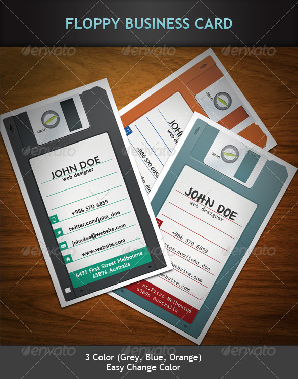 Floppy Business Card - Real Objects Business Cards