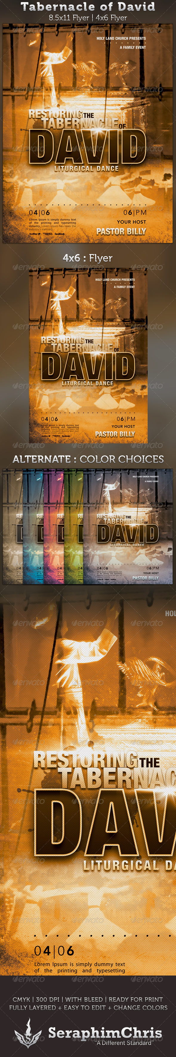Tabernacle of David Church Flyer Template - Church Flyers
