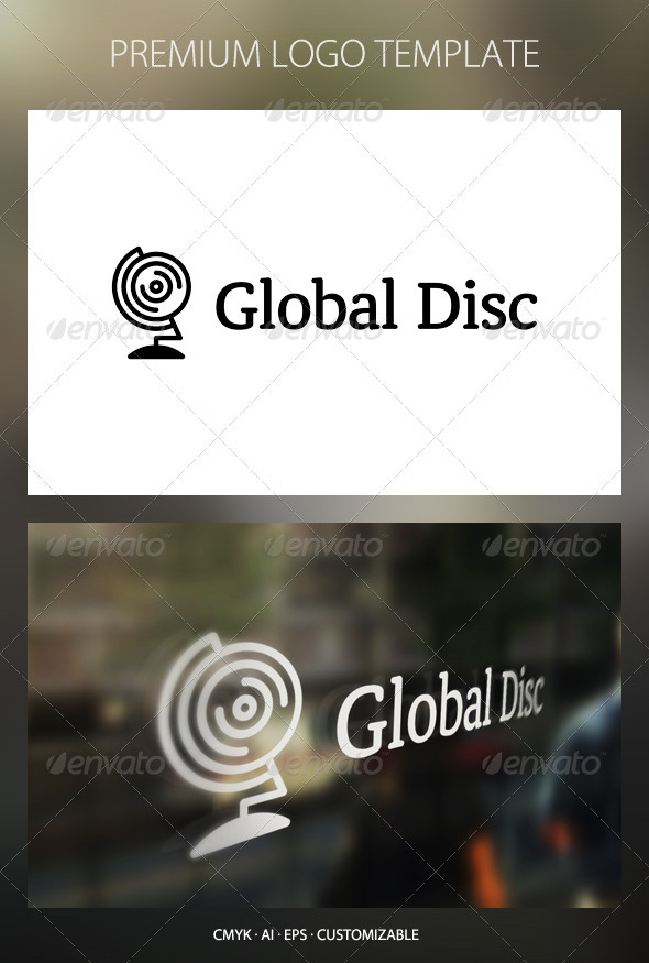 Global Disc Logo Template - Objects Logo Templates