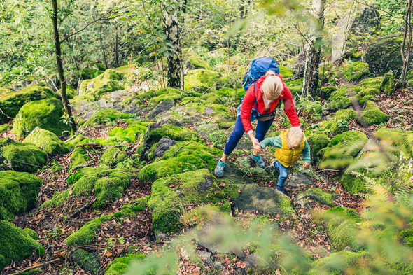 Family hike - Stock Photo - Images