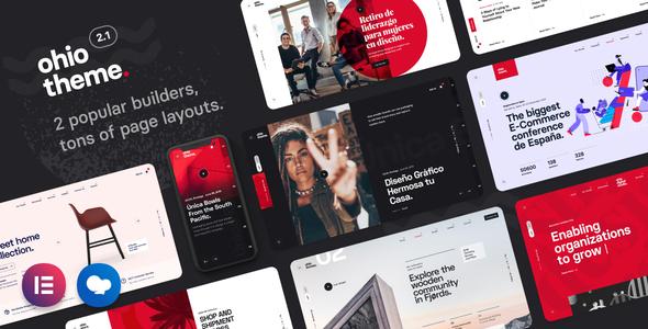 Ohio - Creative Portfolio & Agency WordPress Theme Nulled