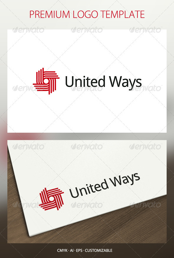 United Ways Logo Template - Abstract Logo Templates