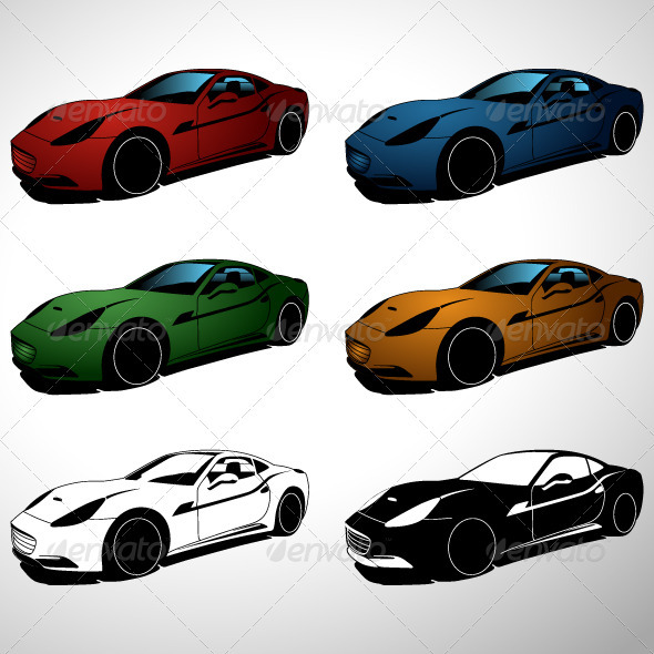 Sport Cars - Man-made Objects Objects