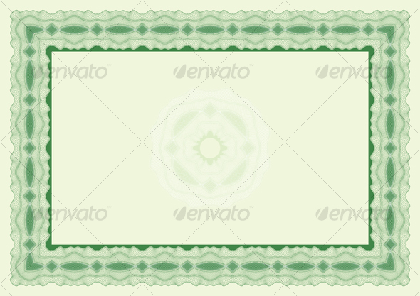Certificate or diploma landscape position - Borders Decorative
