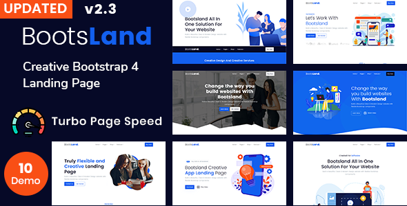 Bootsland – Creative Bootstrap 4 Landing Page