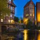 Lueneburg Ilmenau and Old Tower At Night - PhotoDune Item for Sale