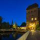 Lueneburg Ilmenau Bridge and Old Tower At Night - PhotoDune Item for Sale