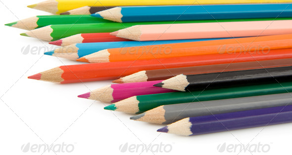 pencil isolated on white background - Stock Photo - Images