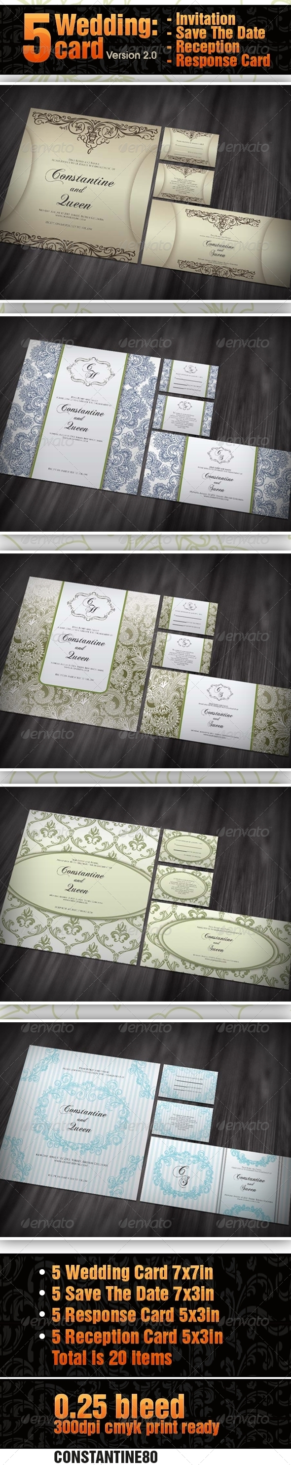 5 items Wedding Card ver 2.0 - Weddings Cards & Invites