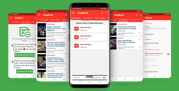 Latest News Highlights App - World News