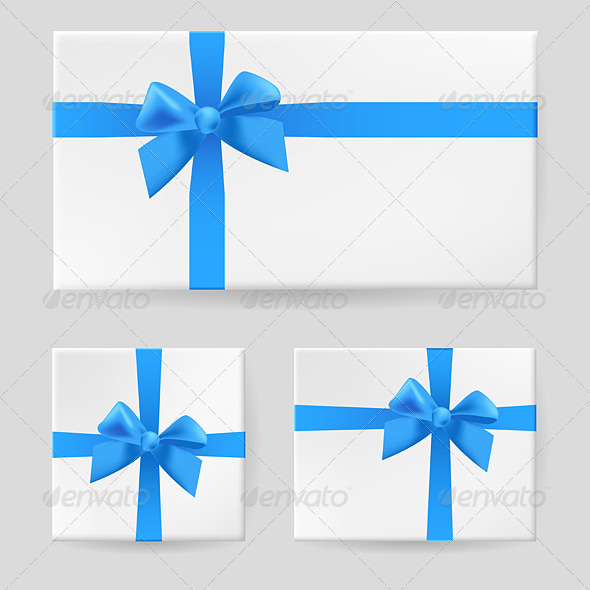 Blue gift bow - Seasons/Holidays Conceptual