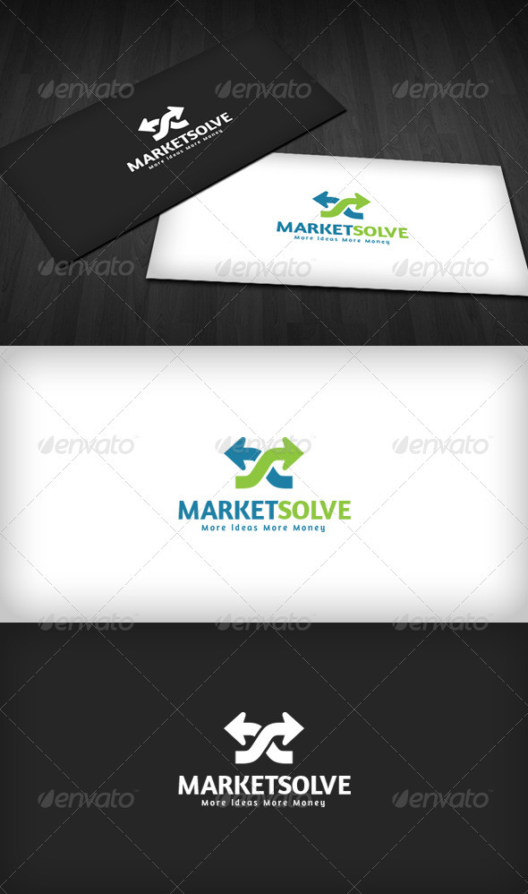 Marketing Solution Logo - Vector Abstract