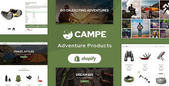 Campe – Camping & Adventure Shopify Theme