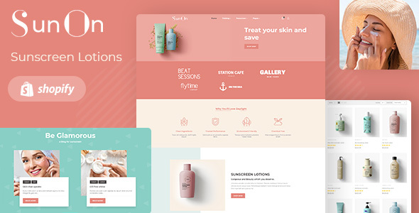 SunOn – Skin Care Products Shopify Theme