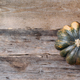 Organic pumpkin on wooden background. Top view. Flat lay. Copy space for advertising. Fall harvest - PhotoDune Item for Sale