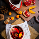Hot spicy mulled wine with fruits and spices in mug - PhotoDune Item for Sale