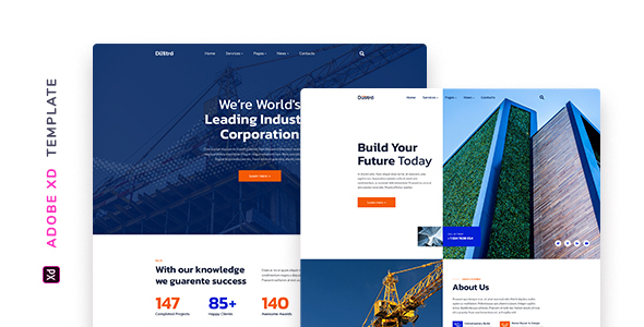 Dustro – Construction Company Template for XD