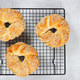 Bagels with sesame seeds on gray stone background. - PhotoDune Item for Sale
