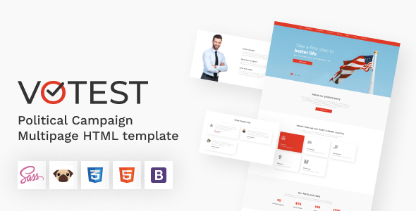 Votest - Political Campaign HTML5 Template