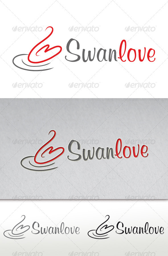 Swan Love Logo - Animals Logo Templates