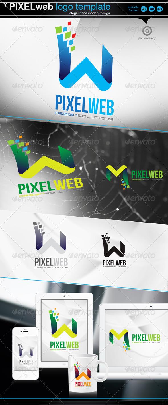 Pixel web - Letters Logo Templates