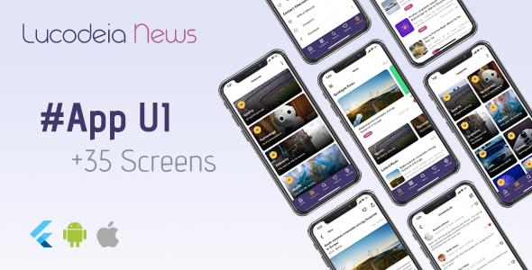 Lucodeia News - Flutter News App UI Kit