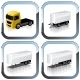Vector truck icons set - GraphicRiver Item for Sale