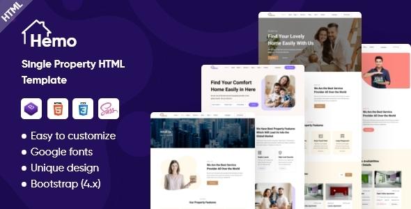 Hemo - Single Property HTML Template