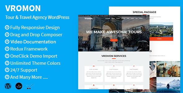 Vromon - Tour & Travel Agency WordPress Theme