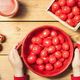Fresh tomatoes preparation for healthy eating - PhotoDune Item for Sale