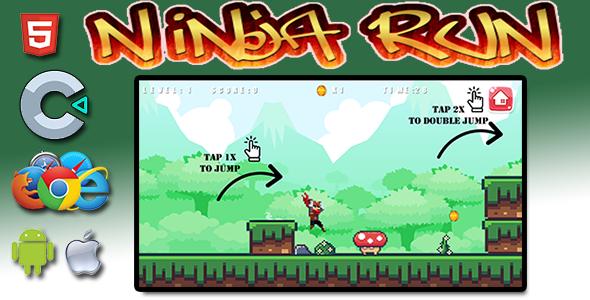 Ninja Run - HTML5 Mobile Game