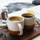 Black coffee in a vintage cup outside - PhotoDune Item for Sale