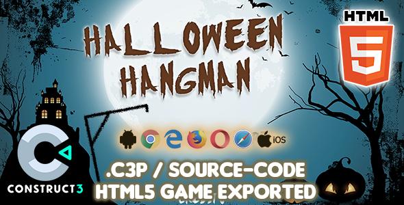 Halloween Hangman HTML5 Game - Construct 3 Source-code