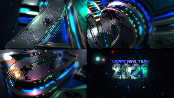 Happy New Year 2021 by VIDEOPILOT_pro | VideoHive