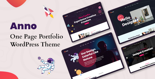 Anno – One Page Portfolio WordPress Theme