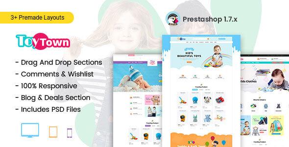 Toytown – Kids Clothing & Toys Prestashop Theme