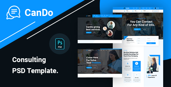 CanDo - Consulting Business PSD Template