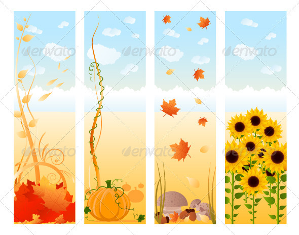 Vertical Autumn Banners - Seasons Nature
