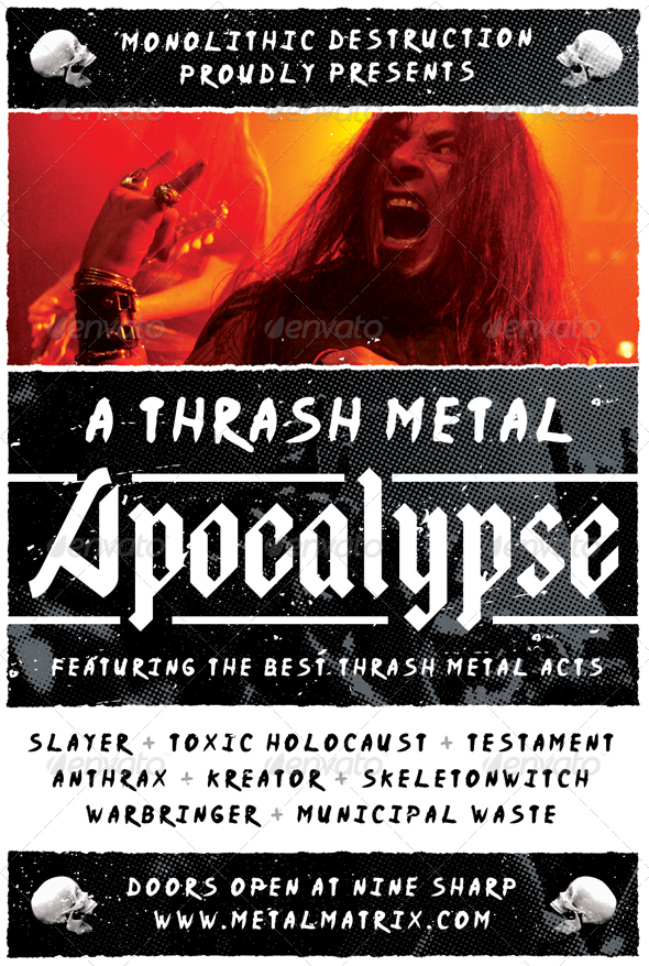 Metal Apocalypse - Heavy Metal Flyer Template - Concerts Events