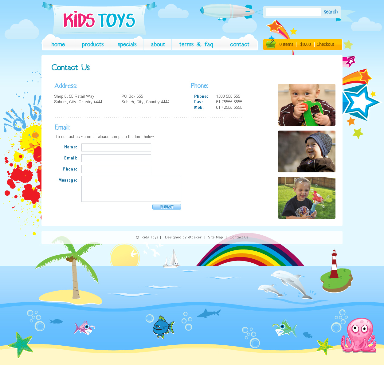 kids toys psd template - Free Templates For Kids