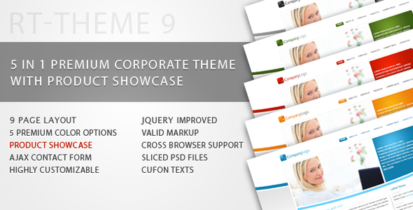 RT-Theme 9 / Business Theme with Product Showcase
