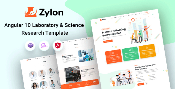 Zylon - Angular 10+ Research & Laboratory Template