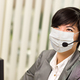 Woman At Office Desk Wearing Medical Face Mask - PhotoDune Item for Sale