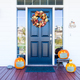 Beautiful House Porch Decorated For Halloween with Pumpkins Wearing Medical Face Masks - PhotoDune Item for Sale